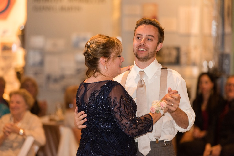 Mother son dance at the Baltimore Museum of Industry downtown