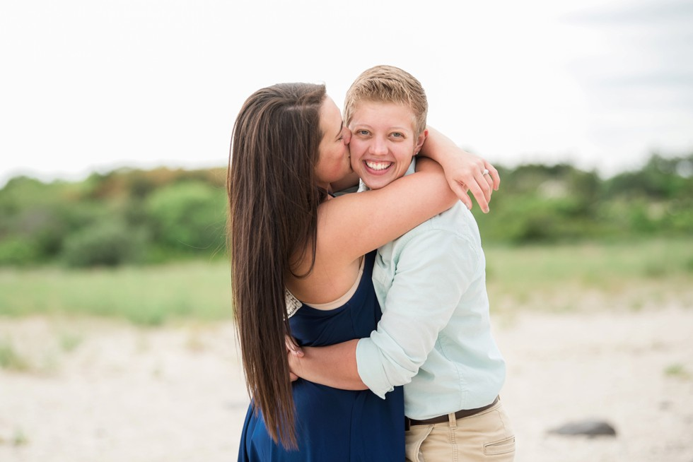 Two brides to be proposal at the Jersey Shore