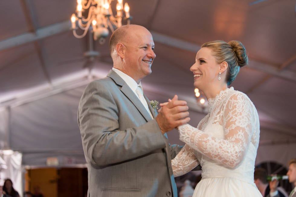 Father daughter dance at Elkridge Furnace inn tented reception