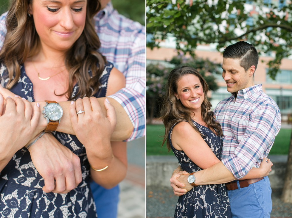 The Wharf in Fells Point engaged couple