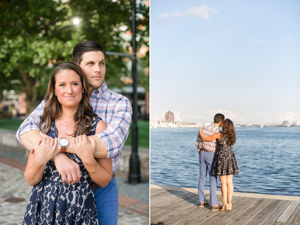 City engagement photos on the water