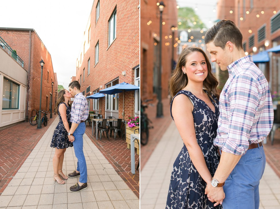 navy blue dress and plaid mens shirt for engagement outfits