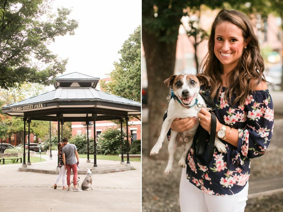 Dog engagement photos in Baltimore