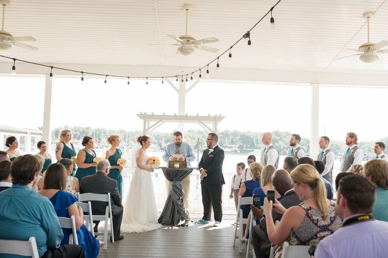 Anchor Inn Wedding Ceremony Overlooking The Water