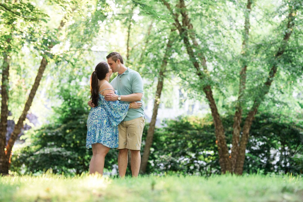 Engagement photos at family home in Annapolis