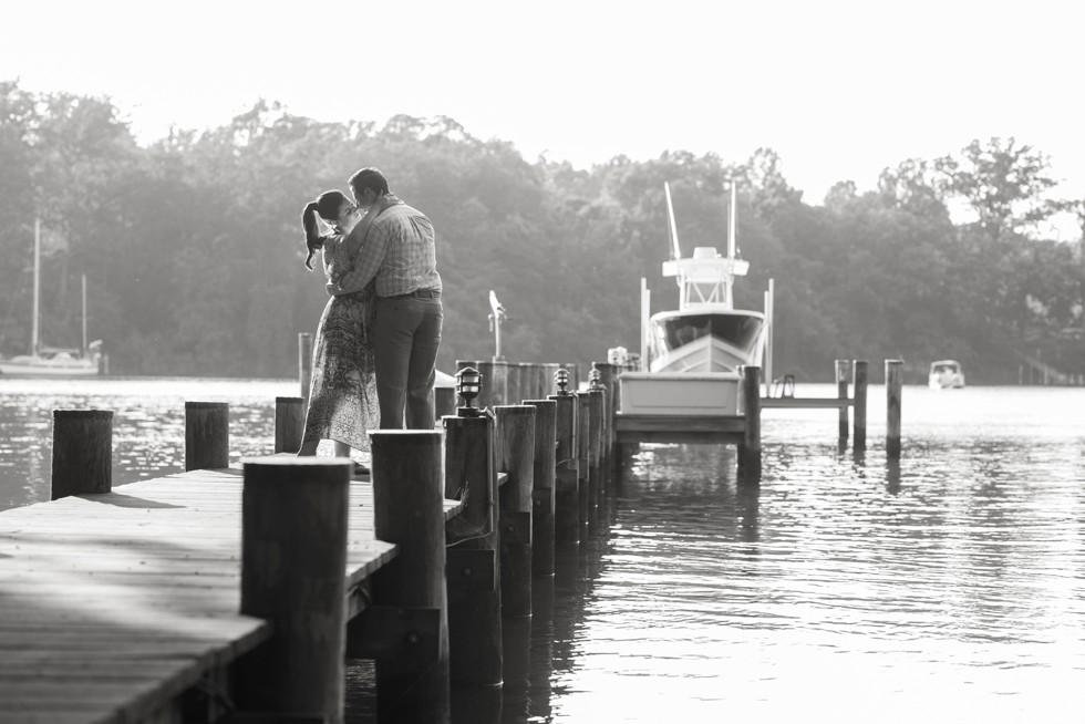 Annapolis waterfront engagement photos