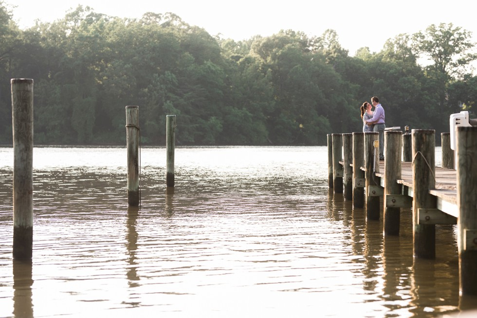 Engagement photos on the docks in Annapolis