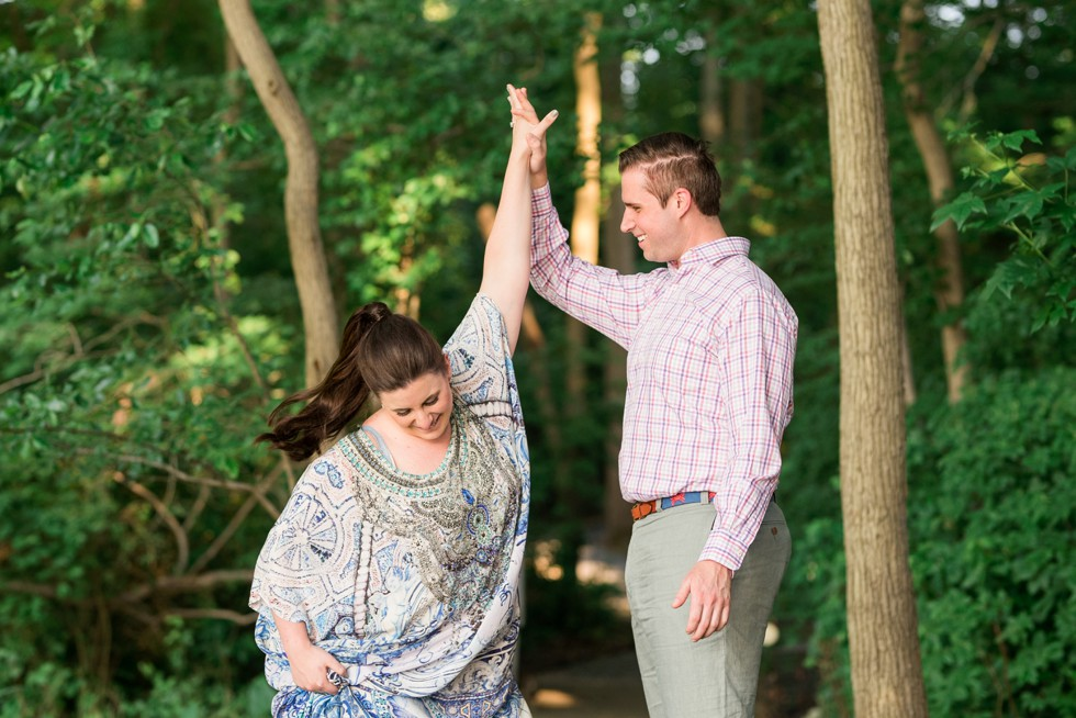 High fives at the end of the engagement session