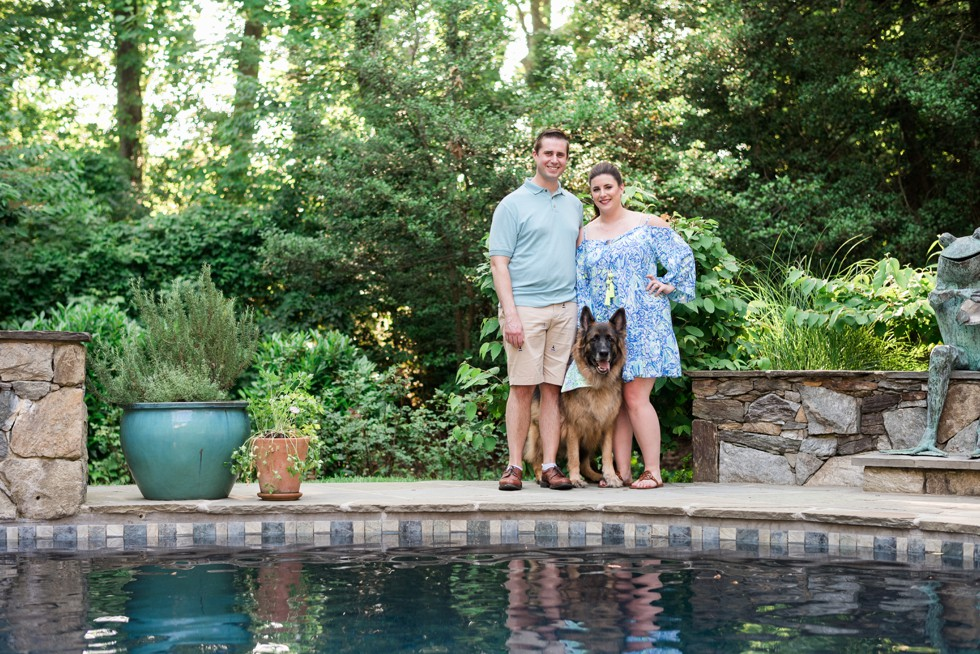 Engagement Photos in Annapolis with Family Dog