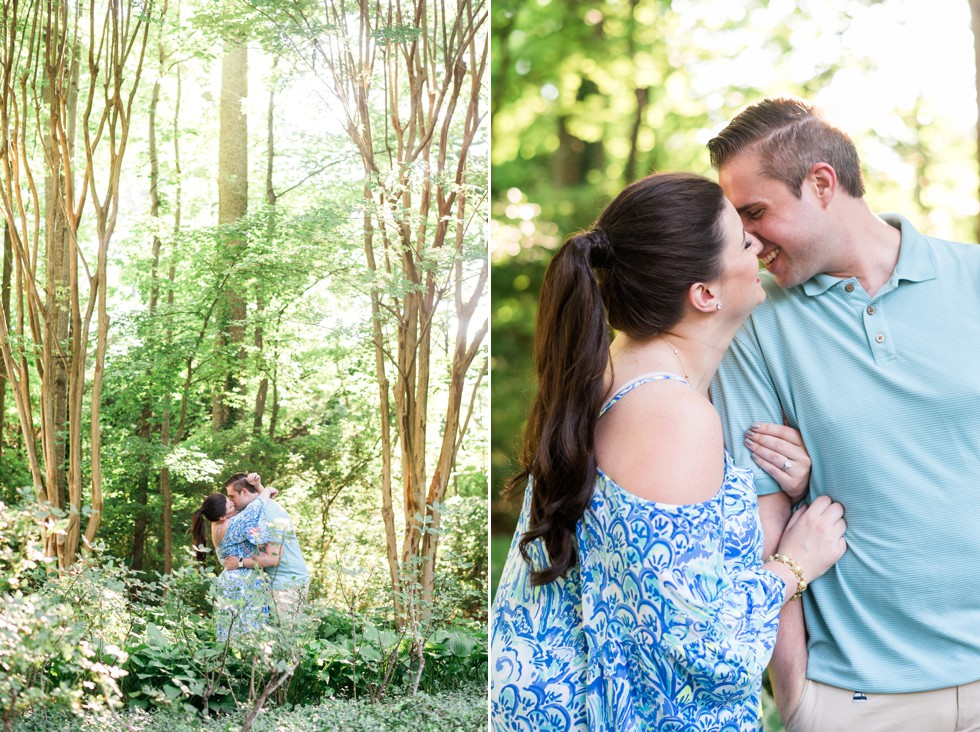 Sunset engagement in the park near Annapolis