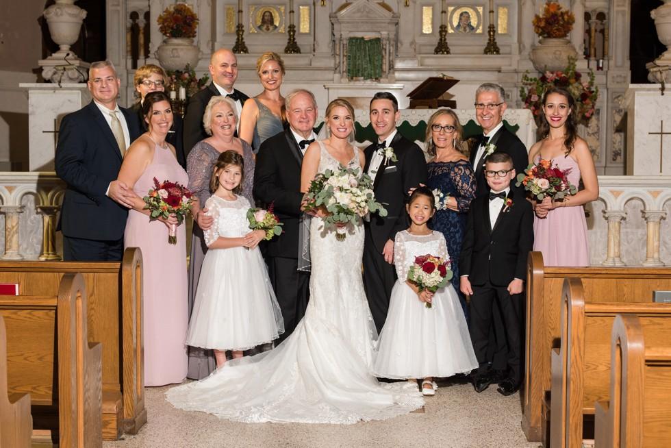 Atlantic City NJ wedding family portraits at St Nicholas of Tolentine