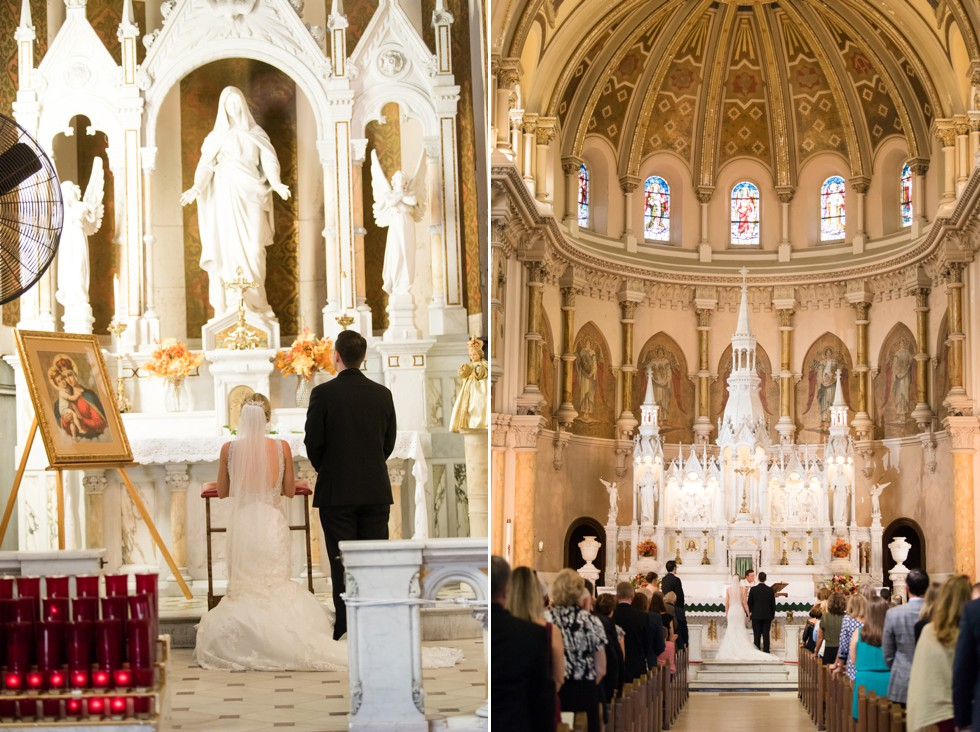 Atlantic City NJ wedding Ceremony at St Nicholas of Tolentine