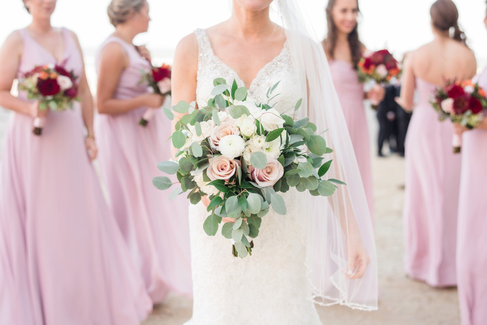 Bride and bridesmaids at One Atlantic on New Jersey Shore