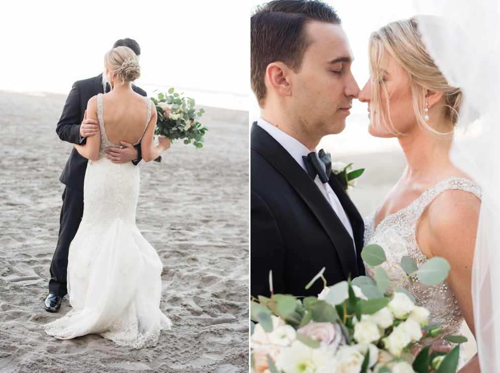 Bride and groom at Atlantic City beach at One Atlantic Events