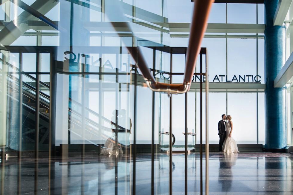 Bride and groom at One Atlantic Wedding venue