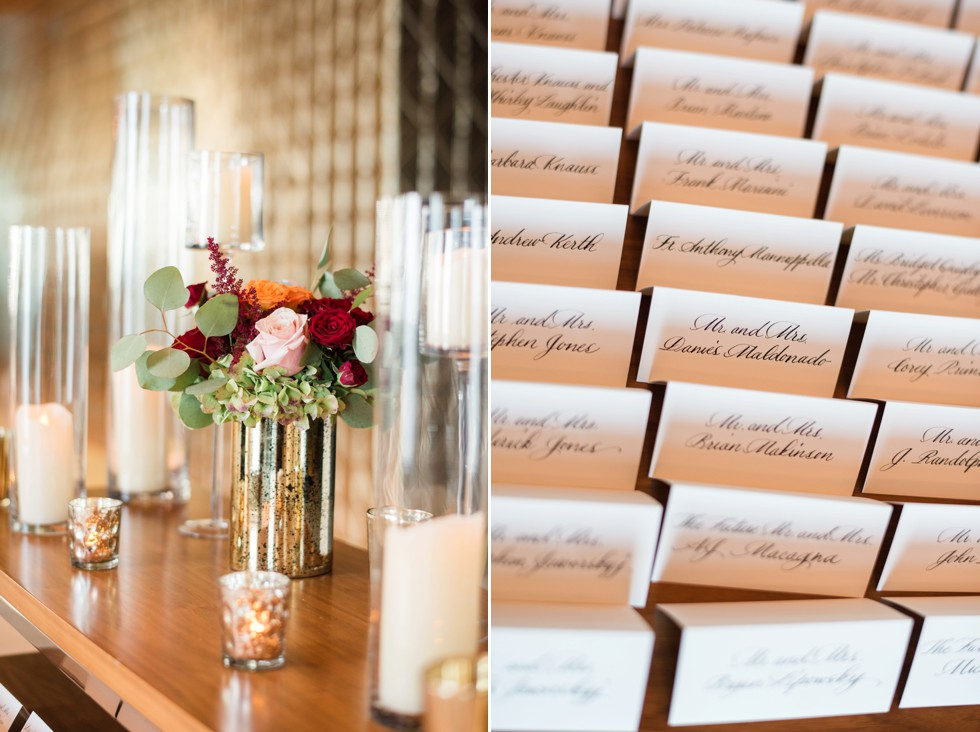 One Atlantic Events reception details with flowers by Manic botanic