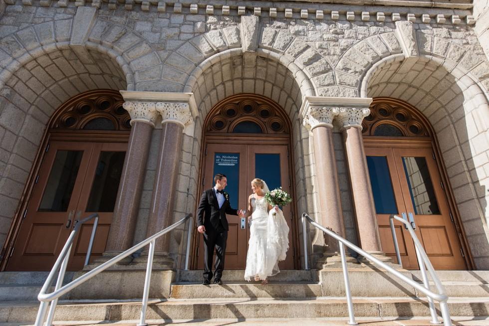 Atlantic City NJ wedding portraits at St Nicholas of Tolentine