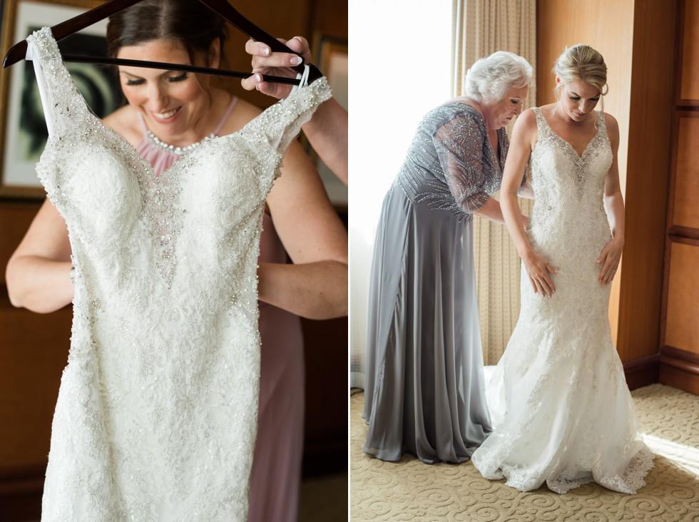 Bridal prep at Sheraton Hotel Atlantic City New Jersey