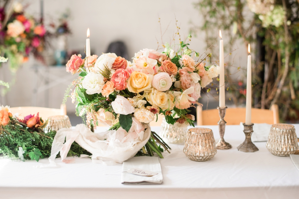 jennifer designs floral centerpiece business branding