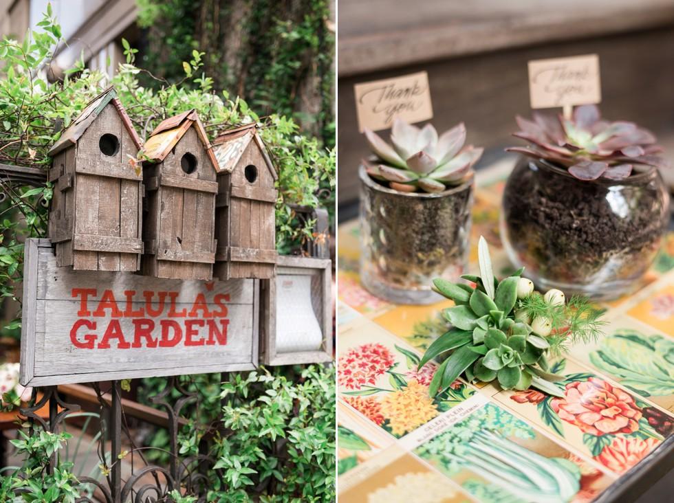 wedding greenery details
