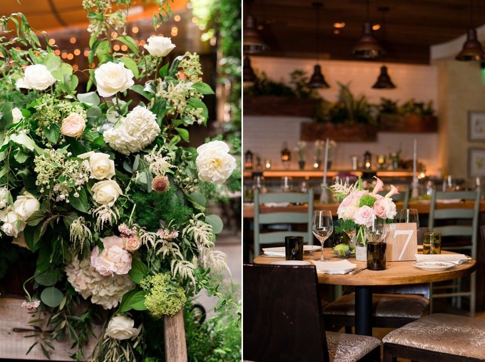 floral design at wedding