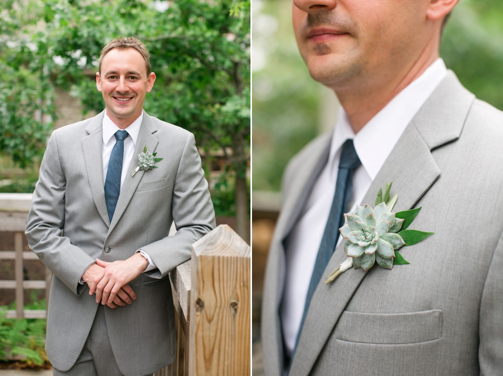 succulent boutonniere by Floral and Bloom Designs