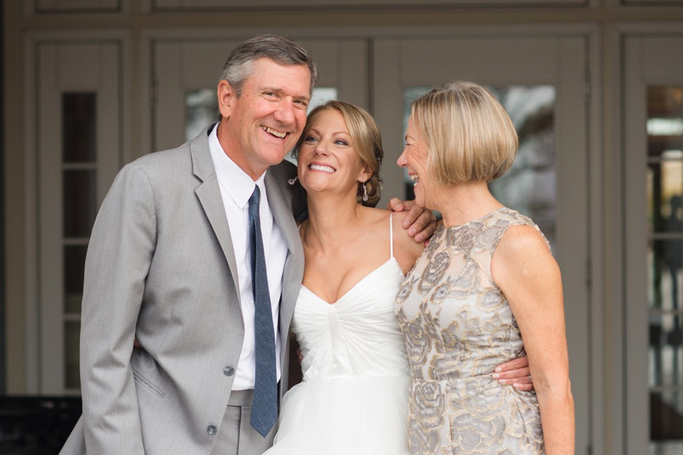 Loving portrait of Bride with her parents