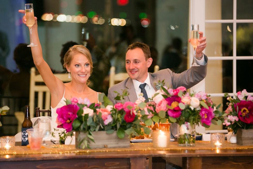 Wedding reception in the Beach House Ballroom at the Chesapeake Bay Beach Club
