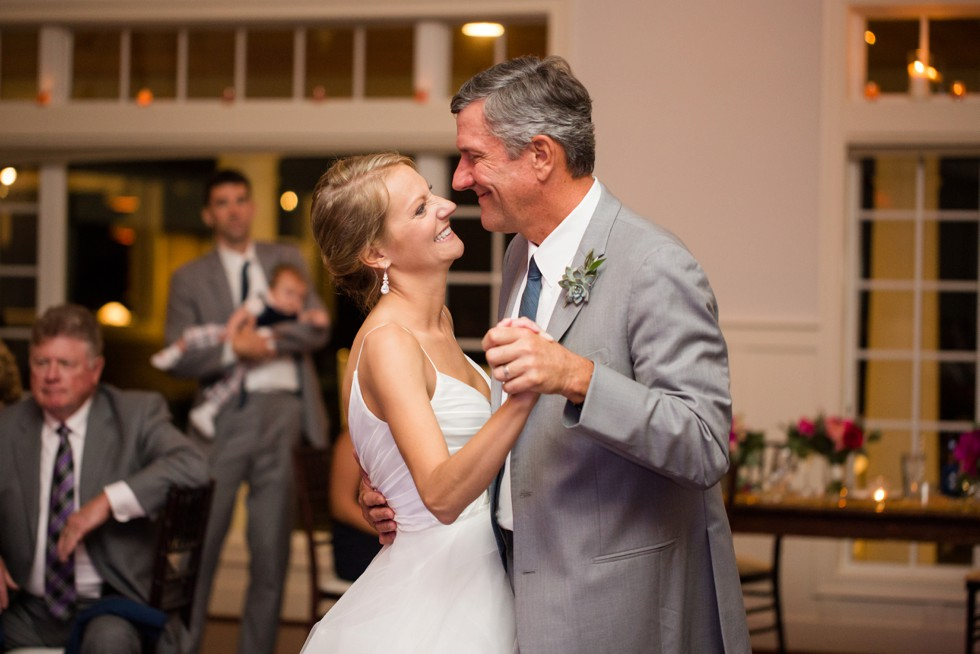 Father daughter dance in the Beach House Ballroom at the Chesapeake Bay Beach Club
