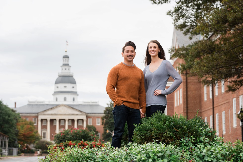 United States Naval Academy Engagement session in Annapolis