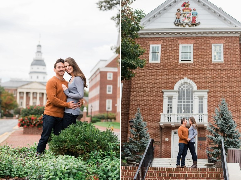 USNA Historic Annapolis Street Engagement photos