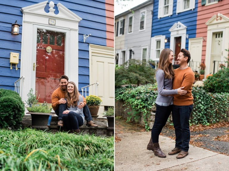 Historic Annapolis Street Engagement photos