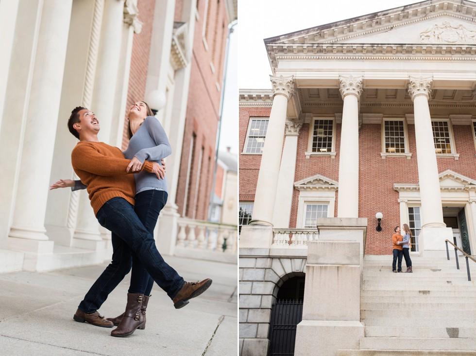 Maryland state house engagement photographs