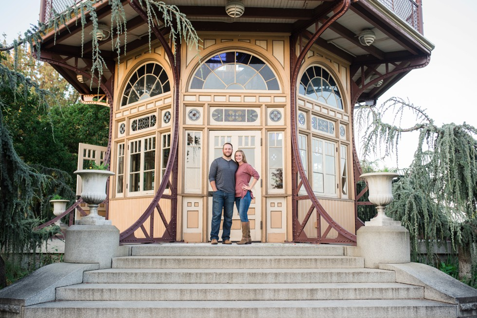 Patterson Park Pagoda Engagement photos
