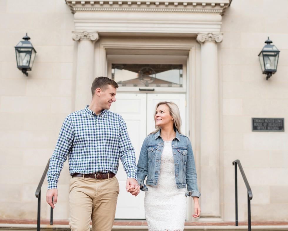 engagement photos downtown historic Annapolis