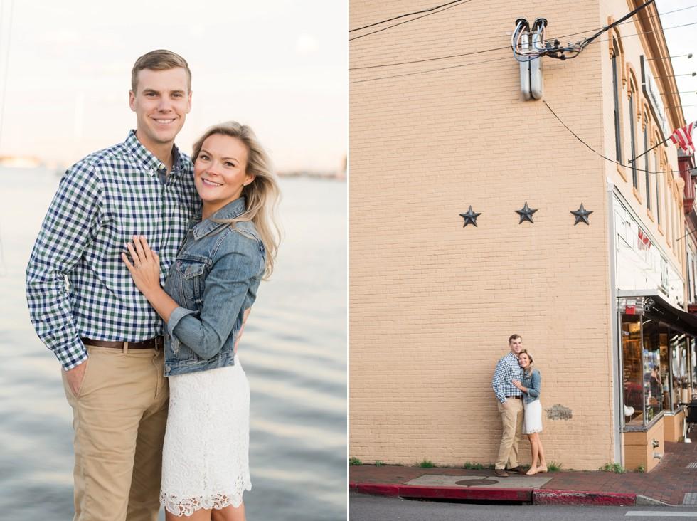 downtown Annapolis couple portrait