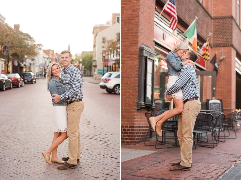 Castlebay Irish Pub Engagement photos in Annapolis