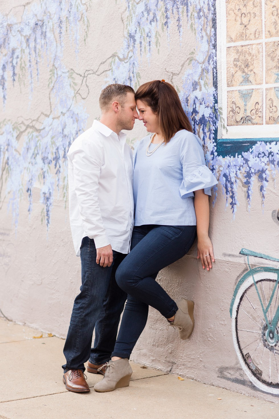 Engagement photos on Annapolis Mural