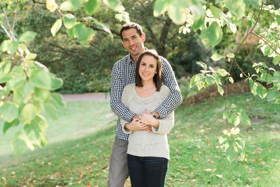 engagement photos at Morris Arboretum