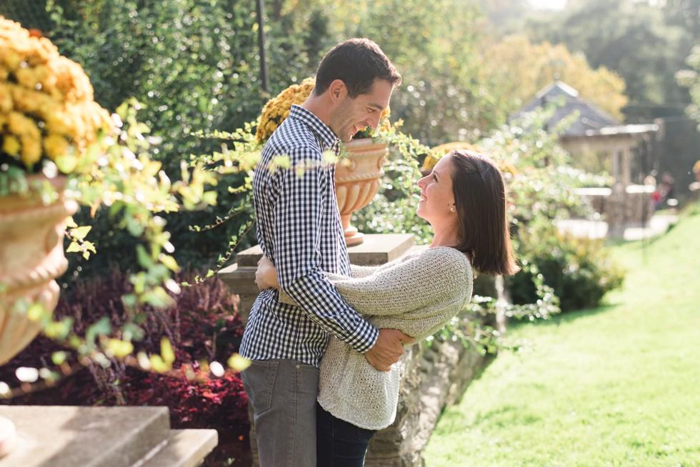 Morris Arboretum Rose Garden engagement photos