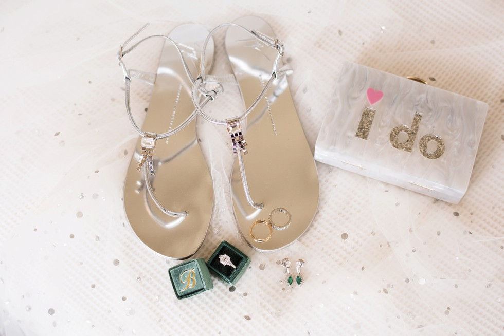 Guiseppe Zanotti bridal silver sandals