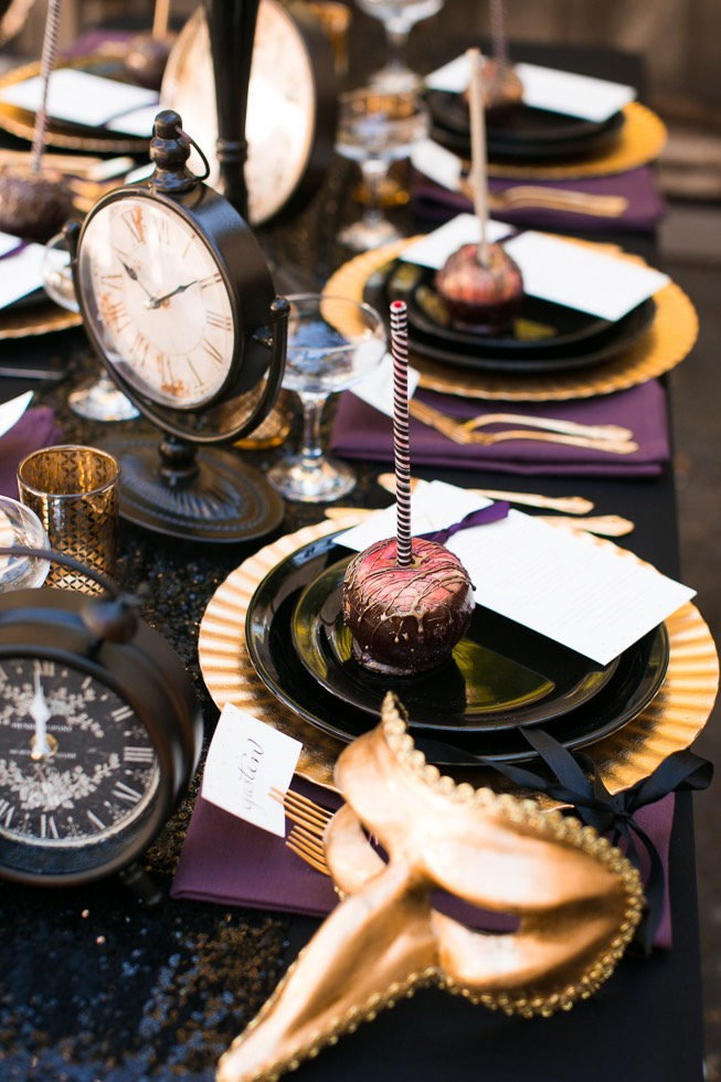 wedding dessert on reception table