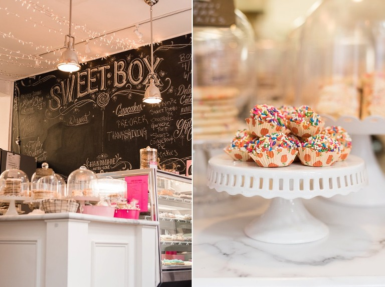 Interior of Sweet Box Cupcakes Bakery