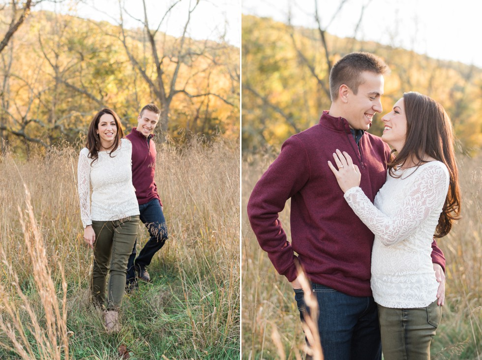 Bowman's Hill Wildflower Preserve Engagement photographer