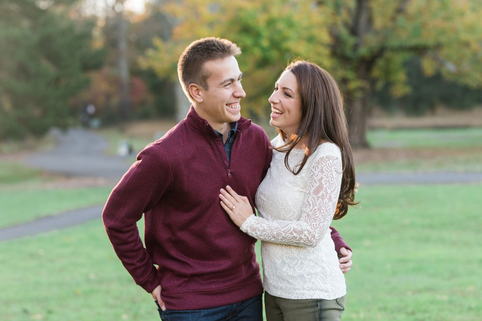engagement photos near Philadelphia at wildflower preserve