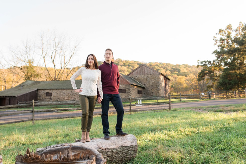 Fall at Thompson-Neely House & Farmstead engagement