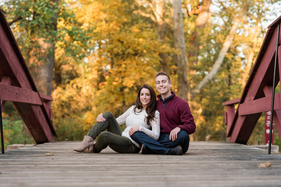 Autumn engagement near Philadelphia