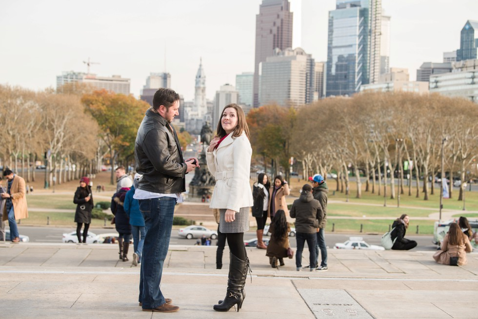 Surprise proposal photos in Philadelphia