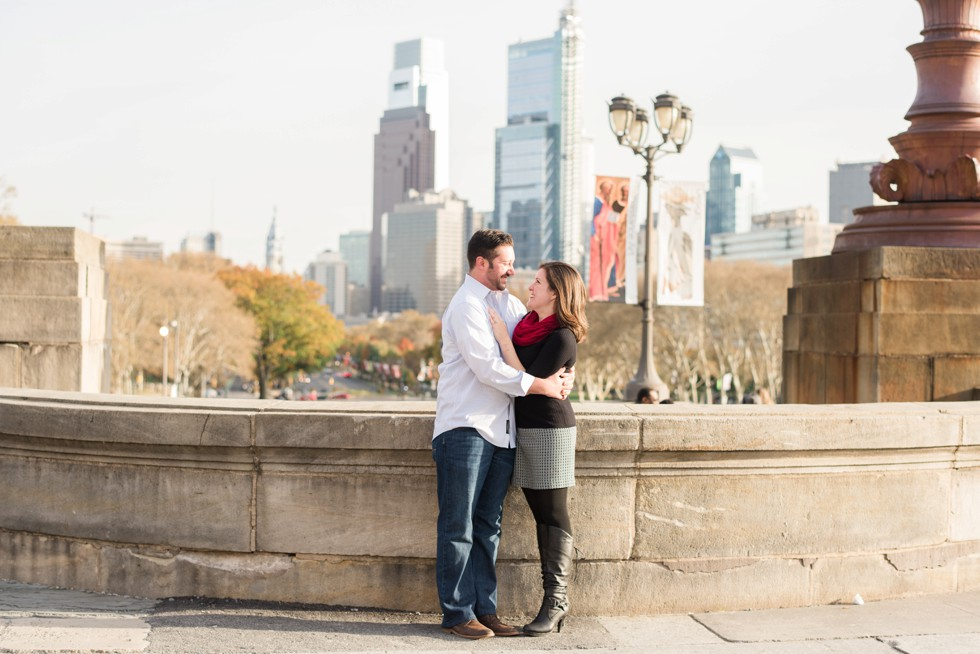 Philadelphia engagement photos after proposal