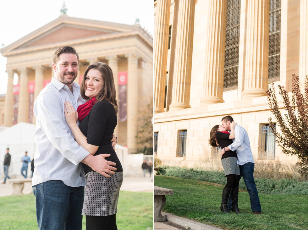 Surprise Engagement at Philadelphia Museum of Art